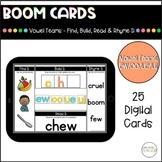 Diphthongs & Vowel Teams EW, OO, UE, and UI - Boom Cards™
