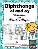 Vowel Diphthongs oi and oy Activity Packet