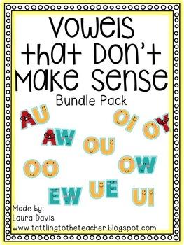 Diphthongs: Vowels that Don't Make Sense Mega-Pack