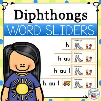 Diphthongs Word Sliders