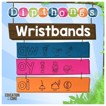 Diphthongs Wristbands | Diphthongs Activities