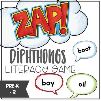 Diphthongs - ZAP literacy game