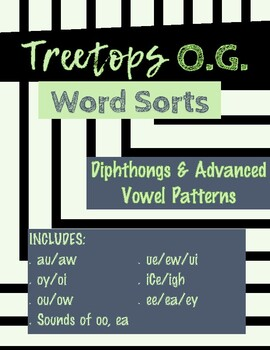 Diphthongs and Advanced Vowel Patterns Word Sorts