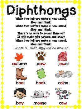 Diphthongs Phonics Unit, Word Work and Literacy Center Activities