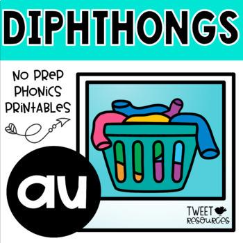 "Diphthongs ""au"" Phonics Printables"