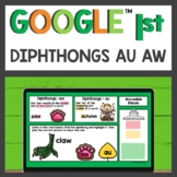 Diphthongs au and aw Practice for Google Classroom™ for Di