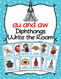 Diphthongs au and aw Write the Room