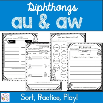 Diphthongs aw au