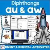 Diphthongs aw au - Print & Digital Distance Learning Component
