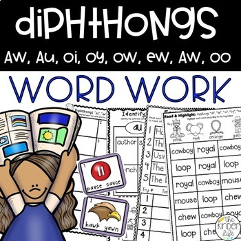 Diphthongs Word Work Phonics 8 Activities and Games