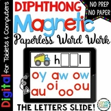 Diphthong Digital Word Work - Paperless Phonics Centers for Google Use