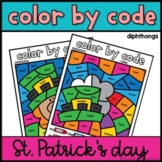 Diphthongs in Words Activity   Color by Code   St. Patrick