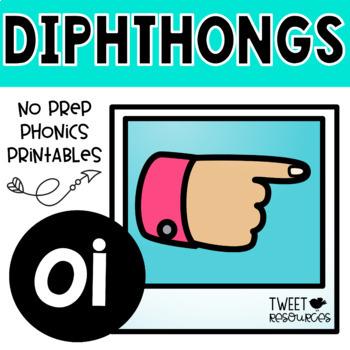 """Diphthongs """"oi"""" Phonics Printables"""