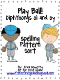 Diphthongs oi and oy Spelling Pattern Sort