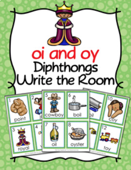 Diphthongs oi and oy Write the Room
