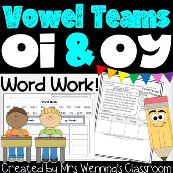 Vowel Teams oi & oy Pack! A Week of Lesson Plans, Activities, and Word Work!