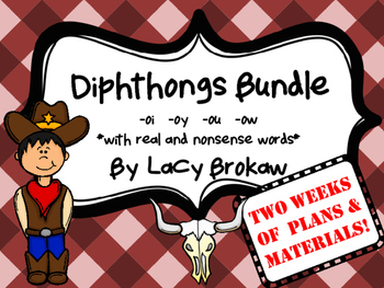 Diphthongs oi oy ou ow BUNDLE! Games and activities