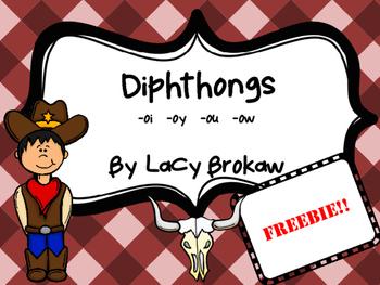 Diphthongs oi oy ou ow FREEBIE