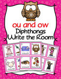 Diphthongs ou and ow Write the Room