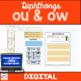 Diphthongs ou ow Practice Activities
