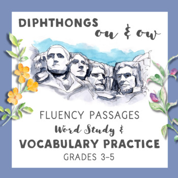 Diphthongs ou & ow Fluency Passages with Word Study & Vocabulary Activities