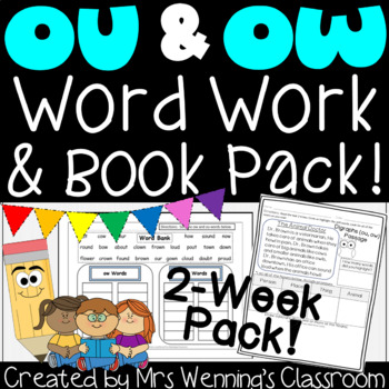 Diphthongs ou & ow Pack! 2 Weeks of Lesson Plans, Activiti