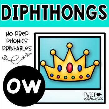 "Diphthongs ""ow"" Phonics Printables"