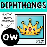 OW Diphthongs Phonics Word Work Printables