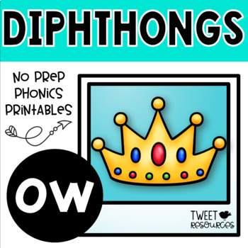 OW Diphthongs Phonics Word Work Printables