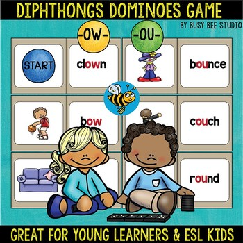 Diphthongs -ow- and -ou- Dominoes Game