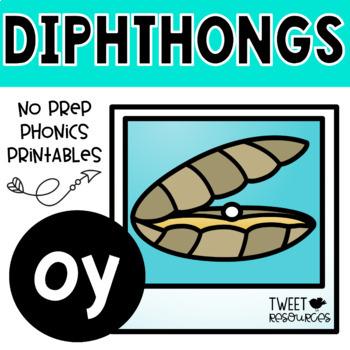 "Diphthongs ""oy"" Phonics Printables"