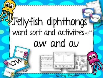 Diphthongs sort  Jellyfish theme