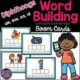 Diphthongs Boom Cards (ue, ew, oo, ui) - Word Building   Distance Learning