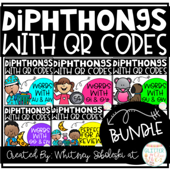 Diphthongs with QR Code Bundle!