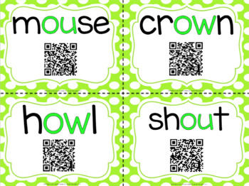 Diphthongs with QR Codes for OW and OU