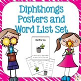 Diphtongs Phonics Posters and Word Lists