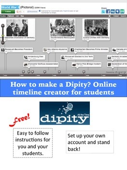 dipity online timeline creator by ms furnas at chubby bunny s ink