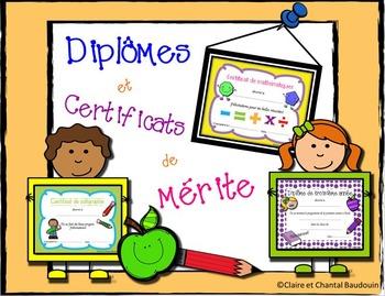 Diplômes et certificats de mérite