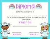 Diploma de Kinder, Preescolar o Pre-K | Kindergarten Diplo