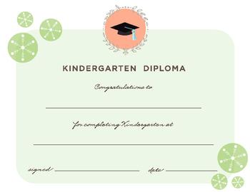 photo regarding Kindergarten Diploma Printable called Degree for Kindergarten Commencement