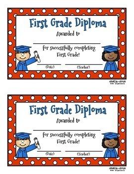 End of the Year Diplomas (Preschool - Third Grade)