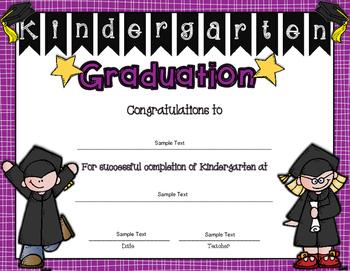 Diplomas/Certificates for Kindergarten