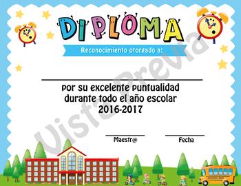 Diplomas Editables de Excelente Conducta y Excelente Puntualidad