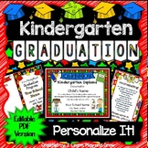 Kindergarten Diplomas, Programs, Invitations - EDITABLE