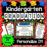 Kindergarten Diplomas, Programs, Invitations - EDITABLE PDF