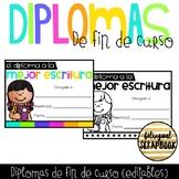 Diplomas de fin de curso (End Of The Year Editable Certifi