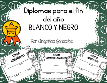 Diplomas para el fin de año (End of the year awards SPANISH)