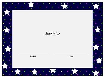 Diplomas/Certificates for preschooler, kinder or first grade