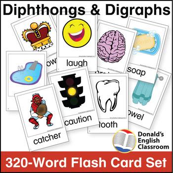 Dipthong & Digraph Flash Card Set
