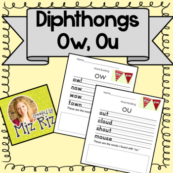 Dipthong Practice Pages (Ow, Ou sounds)